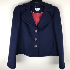Boden Horsell Jacket Navy Blue w/ Red Cuffs 2 M598